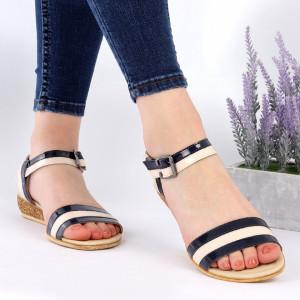Sandale pentru dame din piele naturală cod 9902 Black