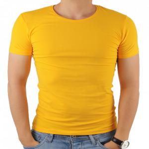 Tricou pentru bărbați cod 4101 Mustard