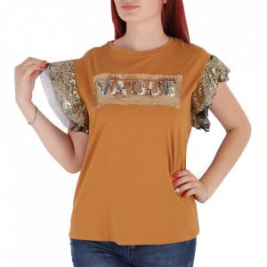 Tricou pentru dame cod F202 Brown