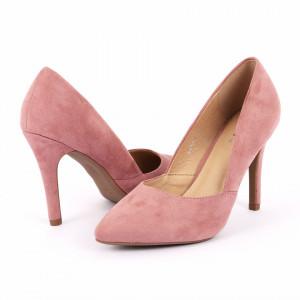 Pantofi cu toc cod A55055 Roz