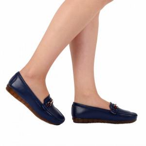 Pantofi din piele naturală cod 301 Navy