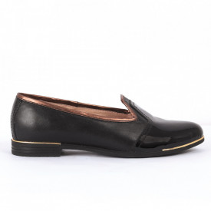 Pantofi din piele naturală bleumarin Cod 1252