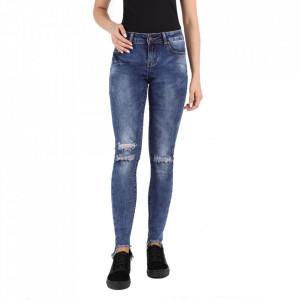 Pantaloni de blugi pentru dame cod F113 Albaștri