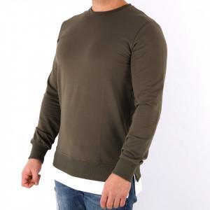 Bluză Alvin Khaki - Bluza simplă este cel mai versatil articol vestimentar din sezonul rece, o piesă cu reputaţie a stilului casual având compoziţia 65% bumbac, 30% poliester şi 5% lycra - Deppo.ro