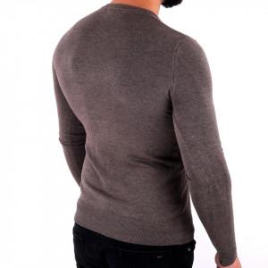 Bluză Damien Dark Grey - Bluza simplă este cel mai versatil articol vestimentar din sezonul rece, o piesă cu reputaţie a stilului casual având compoziţia 78% Viscoză şi 22% Elastan - Deppo.ro