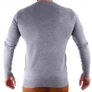 Bluză Damien Grey - Bluza simplă este cel mai versatil articol vestimentar din sezonul rece, o piesă cu reputaţie a stilului casual având compoziţia 78% Viscoză şi 22% Elastan - Deppo.ro