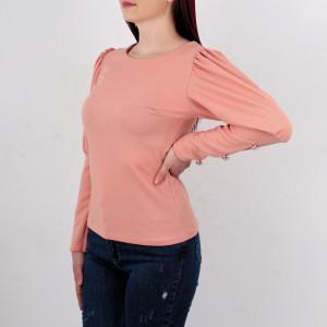 Bluză Danielle Pink - Bluză pentru dame! Bufant la manecă și năsturei aplicați! Un model elegant și o ținută aparte!  Potrivită pentru garderoba ta! - Deppo.ro