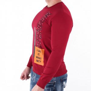 Bluză Jaden Cherry - Bluza simplă este cel mai versatil articol vestimentar din sezonul rece, o piesă cu reputaţie a stilului casual având compoziţia 95% bumbac şi 5% lycra - Deppo.ro