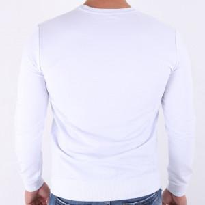 Bluză Jaden White - Bluza simplă este cel mai versatil articol vestimentar din sezonul rece, o piesă cu reputaţie a stilului casual având compoziţia 95% bumbac şi 5% lycra - Deppo.ro