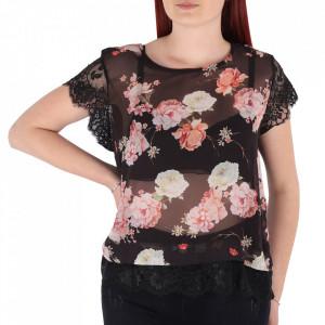 Bluză pentru dame cu mânecă scurtă cod BFL11 Black