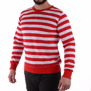 Bluză Rocco Red - Bluza cu mâneci lungi este cel mai versatil articol vestimentar din sezonul rece, o piesă cu reputaţie a stilului casual având compoziţia 60% bumbac, 40% poliester - Deppo.ro