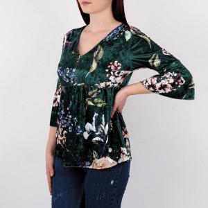 Bluză Sonia Green - Creeaza-ti propriul stil…fa-l sa fie unicpentru tine, dar identificabilpentru altii Model înfloratși o ținută casual! Potrivită pentru dame! - Deppo.ro