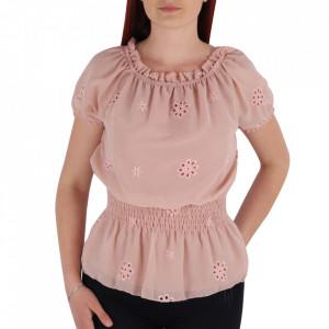Bluză tip cămășuță pentru dame cod YY9 Pink