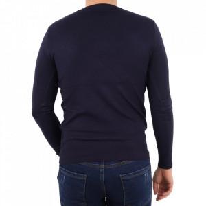 Bluză YY-27 Blue - Bluza simplă este cel mai versatil articol vestimentar din sezonul rece, o piesă cu reputaţie a stilului casual având compoziţia 50% Viscoză 28% PPTşi 22% Elastan - Deppo.ro