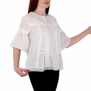 Bluziță tip iie simplă albă Alisa
