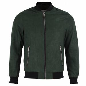 Geacă din piele ecologică pentru bărbați cod P-1810-3 Verde