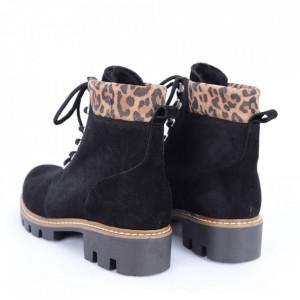 Ghete din piele naturală cod 1230 Leopard - Ghete din piele naturală cu inchidere prin șiret. - Deppo.ro