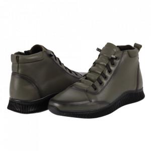 Ghete din piele naturală cod 8742 Army Green - Ghete din piele naturală - Deppo.ro