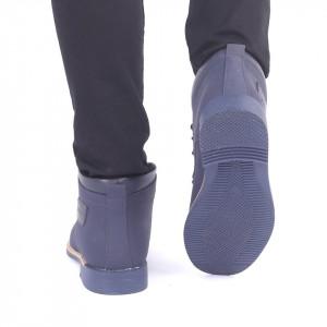 Ghete pentru bărbați 43198 Bleumarin - Produs din piele ecologică, foarte confortabil cu un calapod comod și închidere cu șiret - Deppo.ro