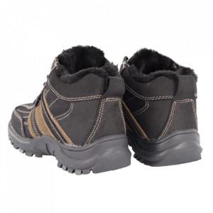 Ghete pentru copii cod WD9001 Black / beige - Ghete din piele naturală, stil casual. - Deppo.ro
