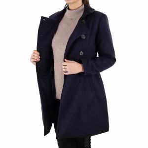 Palton Alicia Cobalt - Palton elegant cu închidere cu nasturi, căptușit pe interior. Îmbracă-l la rochii sau ținute office și asortează-l cu o pereche de mănuși din piele pentru un plus de eleganță. - Deppo.ro