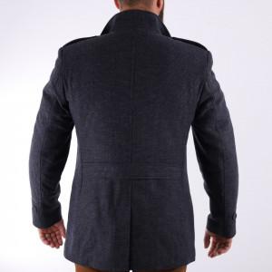 Palton Garis Gri - Modelul prezintă o croială cambrată, inchidere la un singur rând de nasturi, captuseala satinata, doua buzunare laterale inserate si un buzunar interior. Compoziţie 85% lână, 15% poliester - Deppo.ro