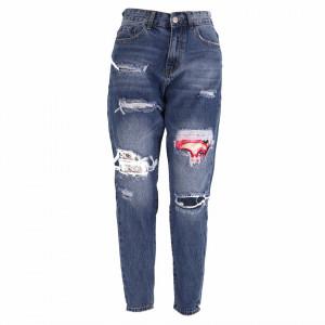 Pantaloni de blugi pentru dame cod F3514 Albaștri