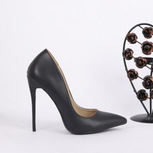 Pantofi cu toc cod 81246A001 Negri