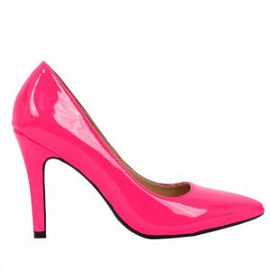 Pantofi cu toc cod A55051 Silver Powder