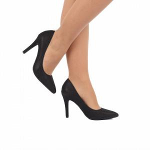 Pantofi cu toc cod A55053 Negri