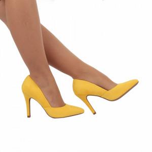 Pantofi cu toc cod A55055 Galbeni