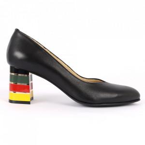 Pantofi cu toc Cod din piele naturală S20 Negri