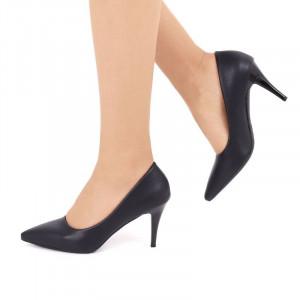 Pantofi cu toc cod EK0030 Negri