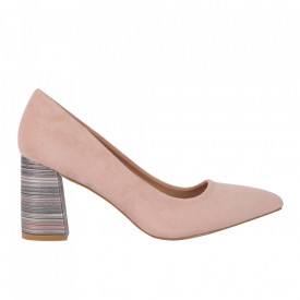 Pantofi cu toc cod OD0204 Pink