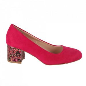 Pantofi cu toc cod OD0319 Fuschia
