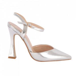 Pantofi cu toc cod OD0334 Silver