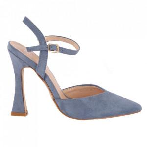 Pantofi cu toc cod OD0335 Blue