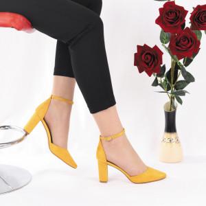 Pantofi Cu Toc Cora Yellow