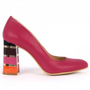 Pantofi cu toc din piele naturală Cod S21 Siclam