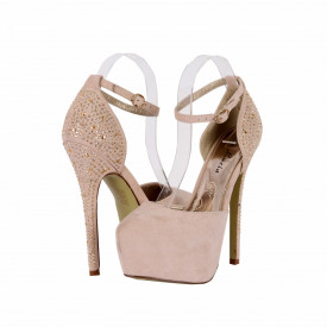 Pantofi Cu Toc Flory Beige