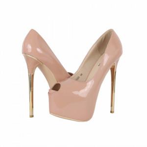 Pantofi Cu Toc Jadyn Nude