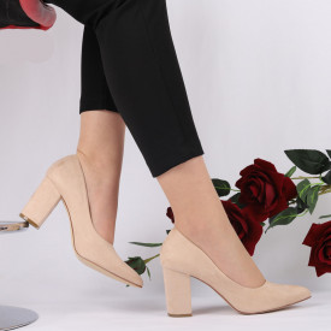 Pantofi Cu Toc Mila Bej