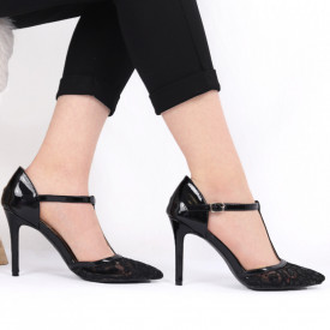 Pantofi cu toc pentru dame cod G3 Black