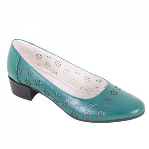 Pantofi din piele naturală cod 1141 B.Verde