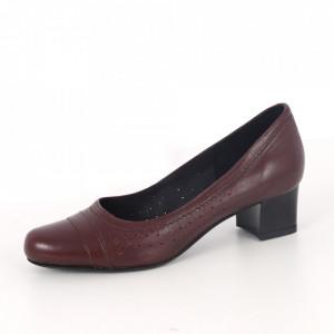 Pantofi din piele naturală cod 122/4 Bordo