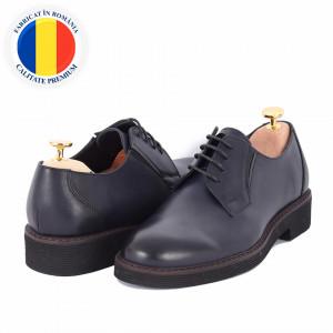 Pantofi din piele naturală cod 180 Albastru