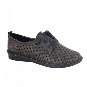 Pantofi din piele naturală cod 2023 Black