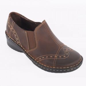 Pantofi din piele naturală cod 270 Maro