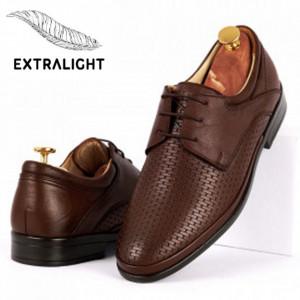 Pantofi din piele naturală cod 4356 Maro