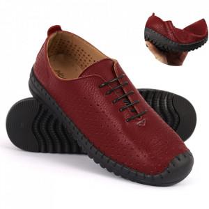 Pantofi din piele naturală Cod 485 Bordo